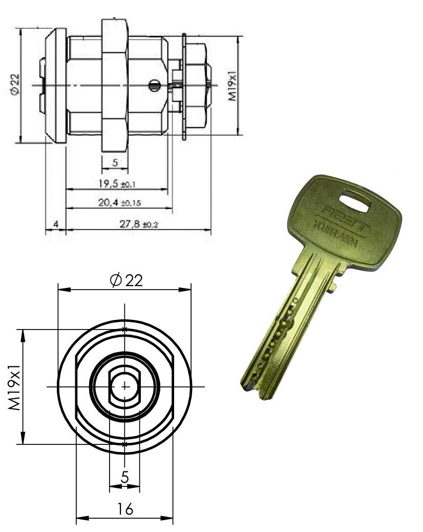 Cerradura Con Llave De Alta Seguridad Mini8 Plus Para Gigames Novomatic
