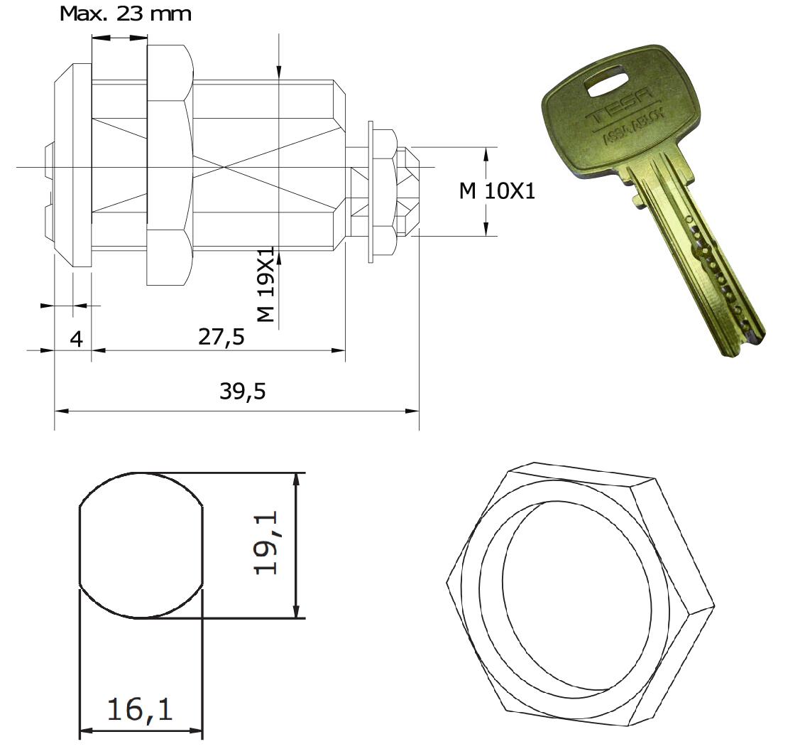 Cerradura Con Llave De Alta Seguridad Mini8 Plus Para Recreativos Franco