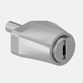 Cerradura De Pulsar Para Puertas Correderas De Cristal Perfil Aluminio