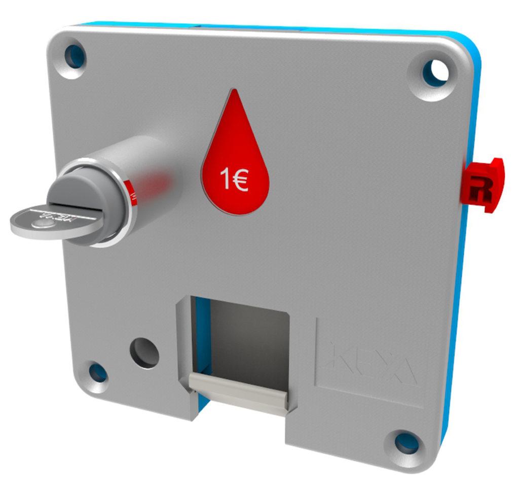 Cerradura Monedero Plástico Para Taquilla ECO