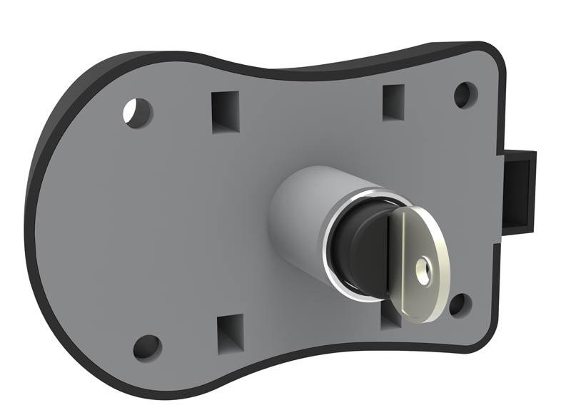 Cerradura De Resbalón Ratón Cilindro Centrado