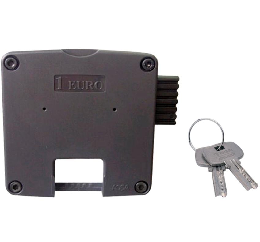 Cerradura Monedero Plástico Para Taquilla TESA Elite Mini8