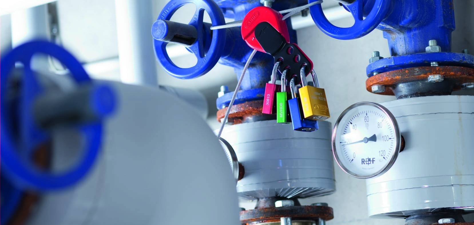 Aspas De Control Con Cable Universal Para 6 Candados